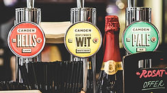 Craft Beers and ciders on Tap. From ales to lagers, IPAs to APAs, Pale Ales to Wheat Beers, and dry to medium ciders