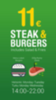 Rump Steak and Angus Beef Burger Offers.