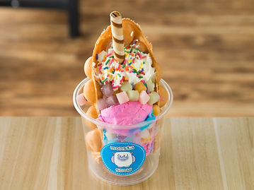 unicorn waffle, puffle, bubble waffle, cotton candy, ice cream, rainbow, mochi, sprinkles, dessert cone