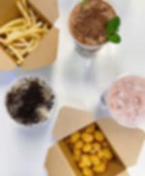 fries, cheese curds, boba tea, bubble tea, milk tea