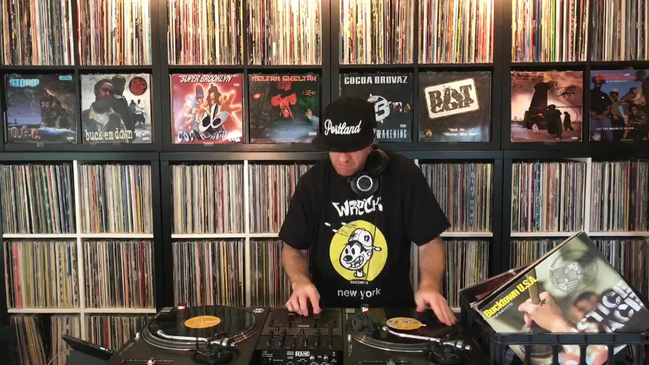 DJ Wicked spinning classics by Boot Camp Clik and Duck Down Records.