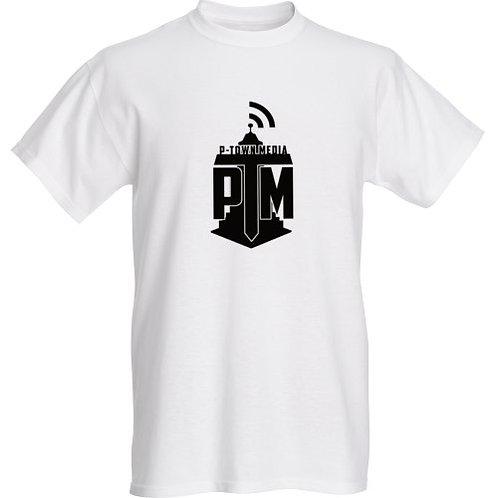 P-Town Media Black Logo Tee