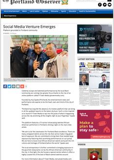 PORTLAND OBSERVER: Social Media Venture Emerges