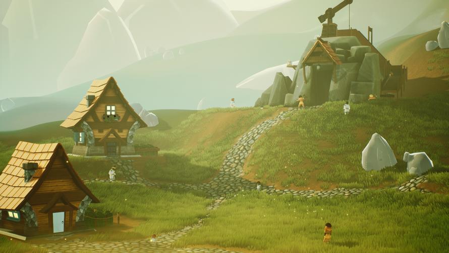 A human mining colony