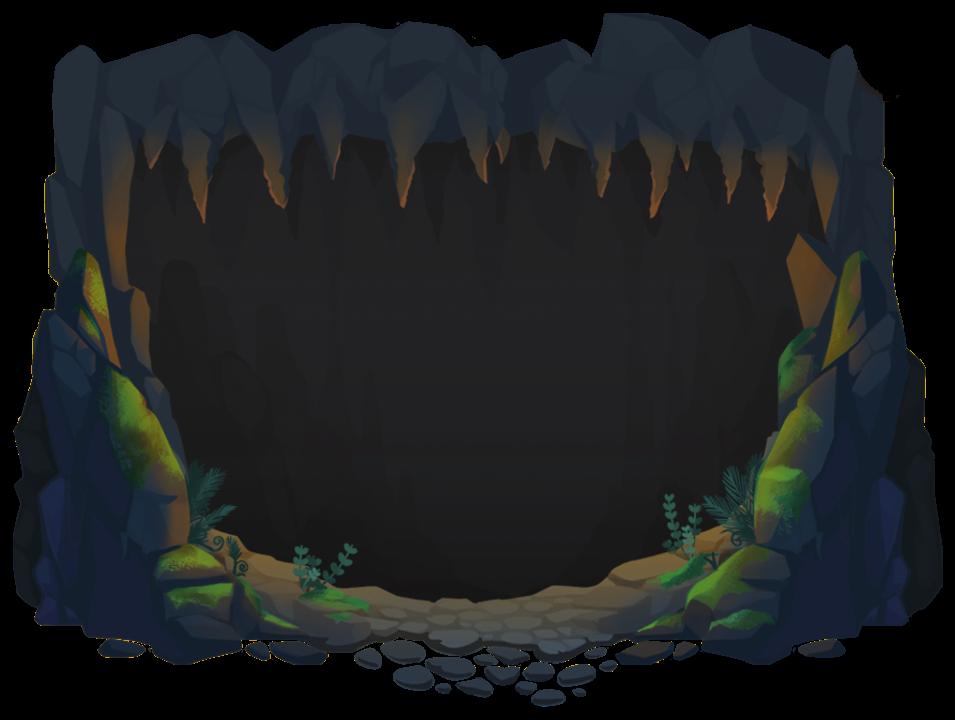 Orange Lit Cave