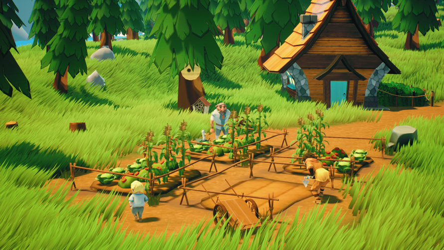 Humans maintaining their farm