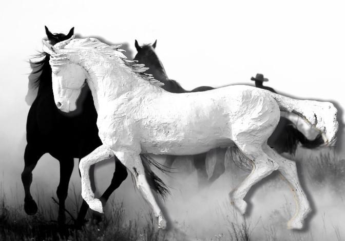 Life Size Stallion by Robin Katinyu Ruga