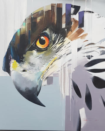 Contemporary African Hawk Eagle, by renowned artist and teacher, David Thorpe