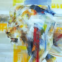 Ascend, Lion Portrait by Everett Duarte
