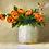 Thumbnail: Orange Roses in Clay Pot
