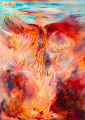 The Phoenix, by South African Master, Rachelle Bomberg