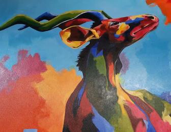 African Antelope, by Andrew Mokgatla