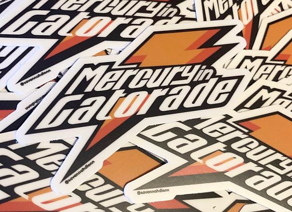 Mercury in Gatorade Sticker