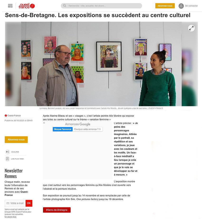 Sens de Bretagne exposition portraits Alix Morère