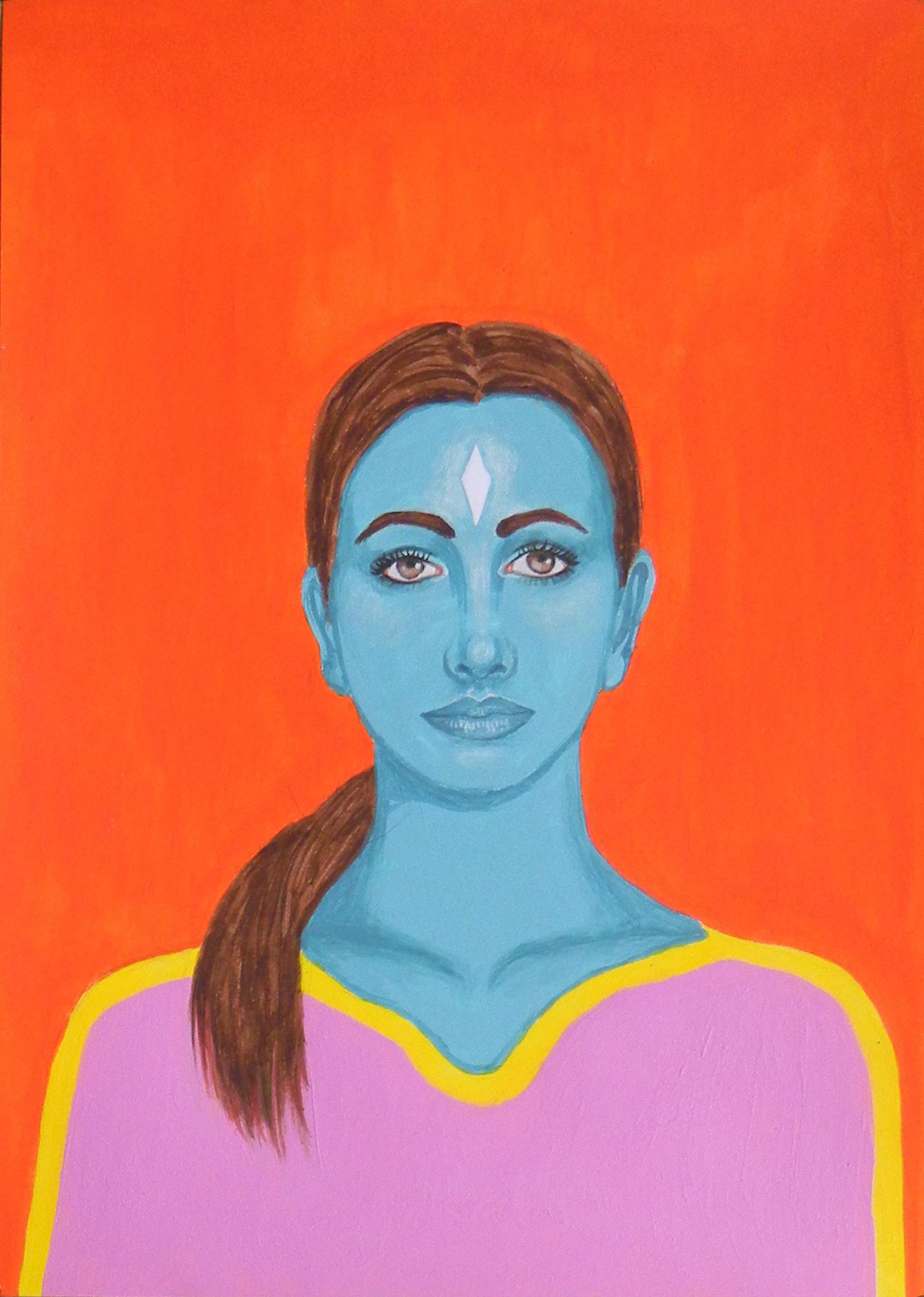 Danae  - Portrait imaginaire d'une voyageuse de l'espace.