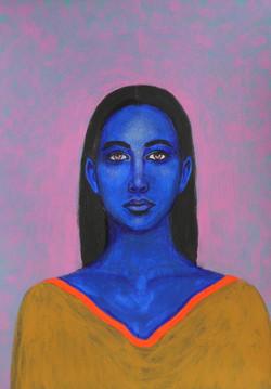 Blue - Portrait imaginaire d'une voyageuse de l'espace.