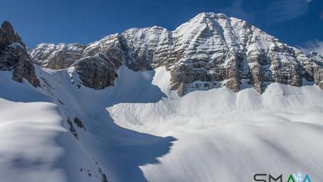 Glaciologia - Bilancio di massa invernale 2020-2021 all'ice patch orientale del Canin