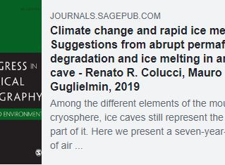 CLIMATE CHANGE AND RAPID ICE MELT: SUGGESTIONS FROM ABRUPT PERMAFROST DEGRADATION AND ICE MELTING IN