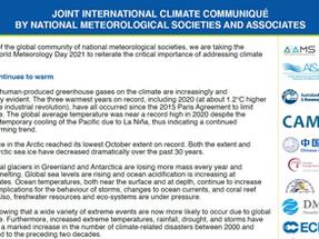 Comunicato internazionale sul clima emesso dalle società meteorologiche globali