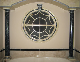 Guest bath window