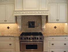 Custom kitchen cabinets and tile
