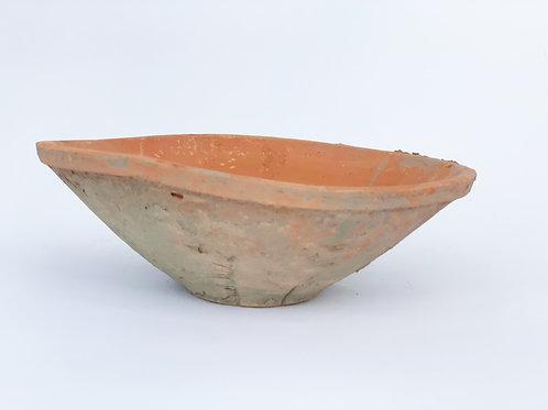 Rustic Terra Cotta Shallow Bowl