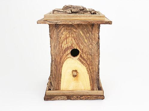 Live Bark Edged Black Walnut Birdhouse