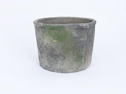 Rustic Terra Cotta Charcoal Cylinder