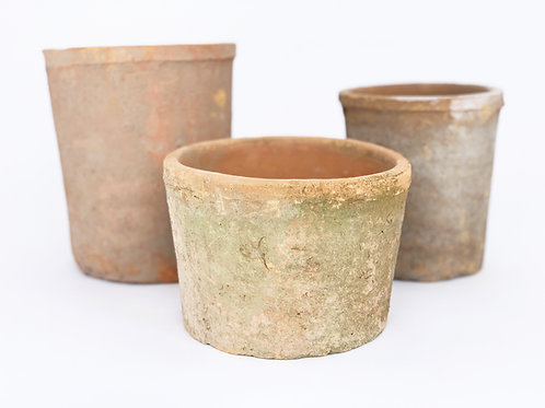 Rustic Terra Cylinder Cotta Planter