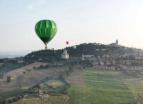 Fly in to Todi