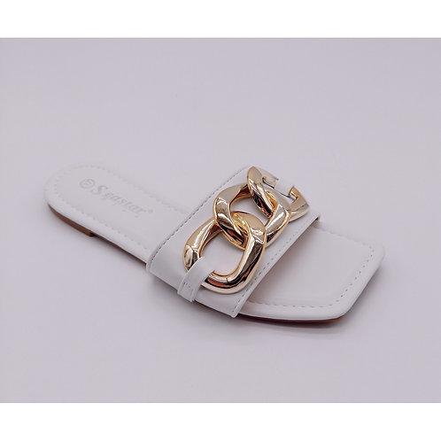 Sandales avec chaine doré