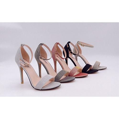 Sandales à talons pailleté