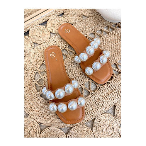 Sandales avec perles
