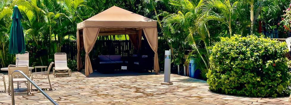 Hot tub and cabana