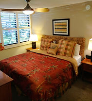 Kamaole Sands bedroom withking bed