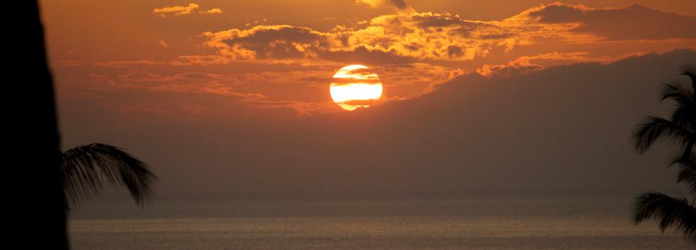 Sunsets from the lanai at Wailea Ekolu #7