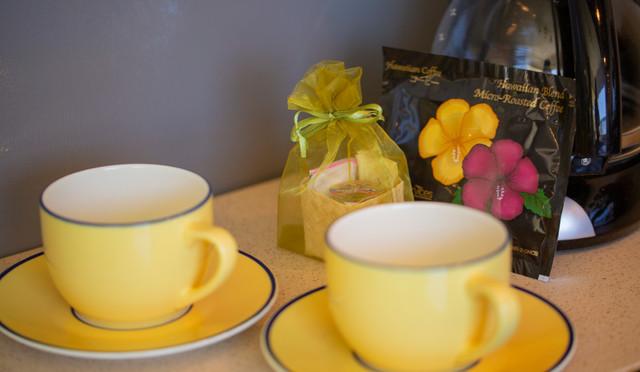 Enjoy morning coffee at Wailea Ekolu #7