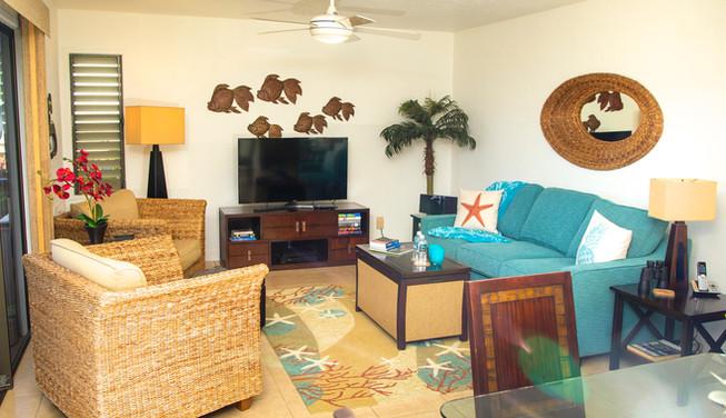 Wailea Ekolu #3 Living room