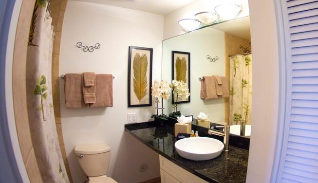 Wailea Ekolu #3 Guest Bathroom with Tub