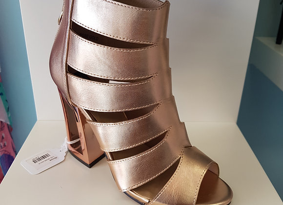 ROSE GOLD GLADIATOR HIGH HEEL SANDAL