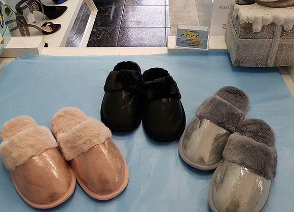 SPARKLE FUR LINED SLIPPERS