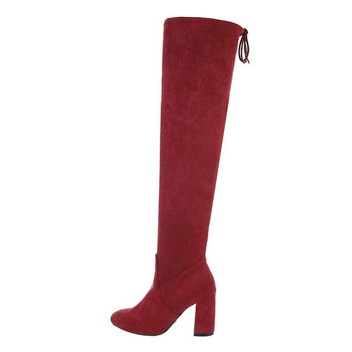 G-343 WINE OVER THE KNEE SUEDE BOOT