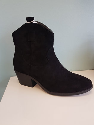 BLACK SUEDE BIKER BOOT