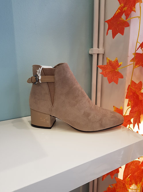 LT140 - KHAKI ANKLE BOOT WITH BUCKLE STRAP