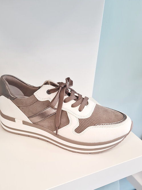 MARCO TOZZI  23720 - 27 192 WHITE TAUPE TRAINER