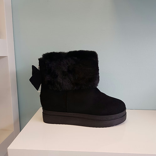 PP-29 BLACK FLUFFY BOOTS