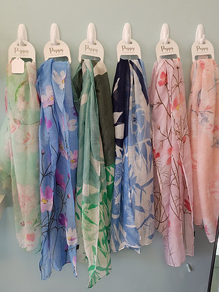 PATTERNED SCARFS - VARIOUS COLOURS