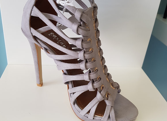 GREY GLADIATOR HIGH HEEL SANDAL
