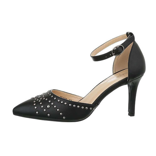 BLACK  CLASSIC HEEL WITH ANKLE STRAP