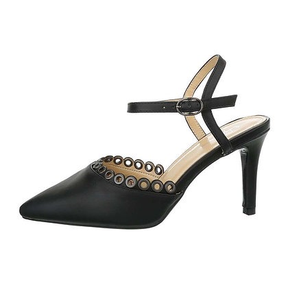 BLACK HEEL WITH ANKLE STRAP